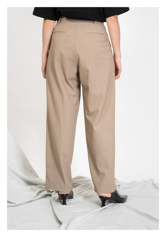 Wide Dripping Pants Beige