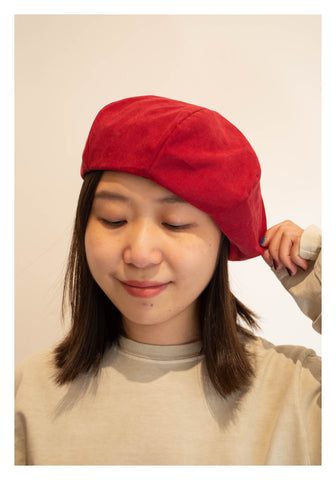 Winter Cotton Beret Red - whoami