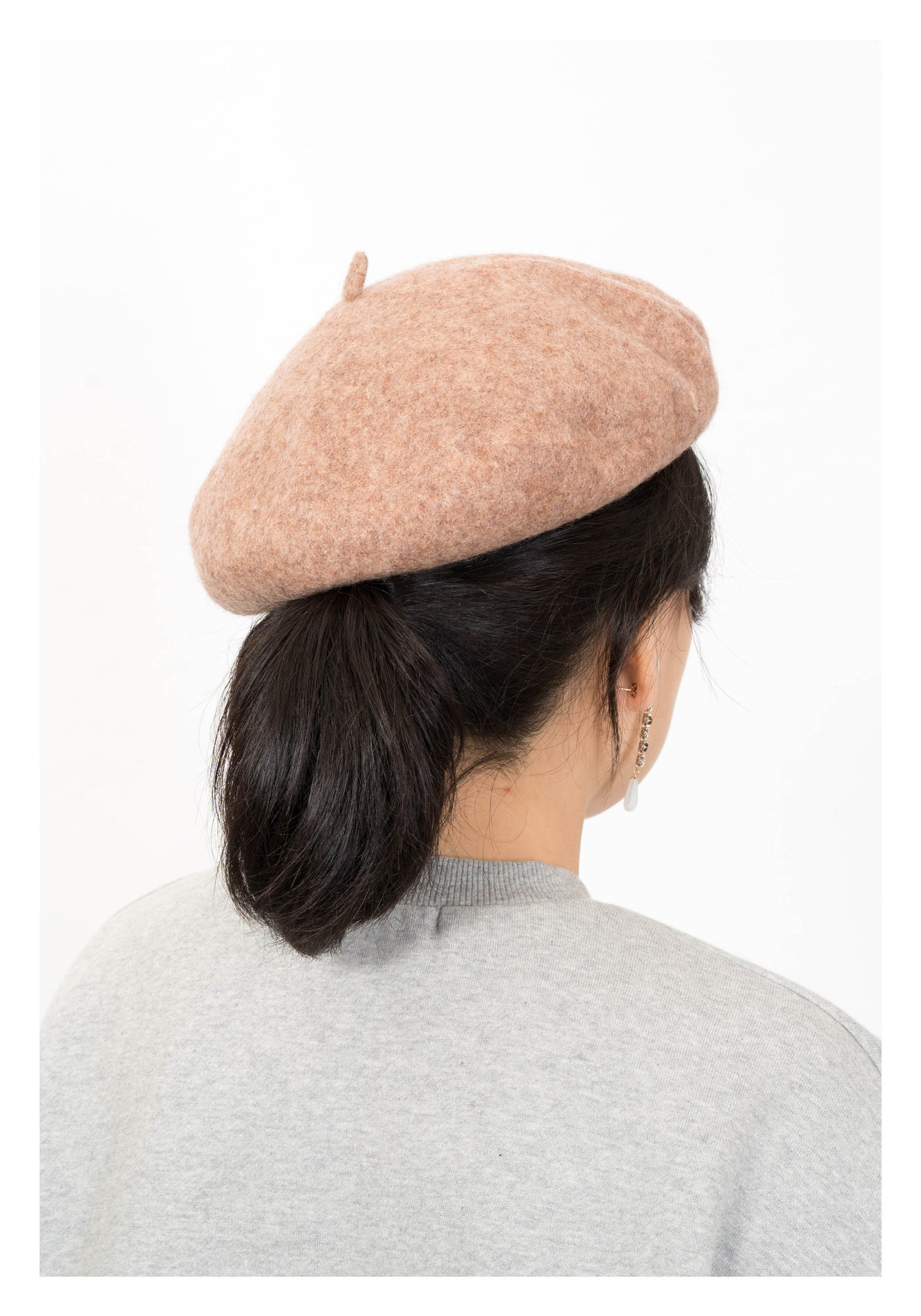 Wool Colour Beret Beige - whoami