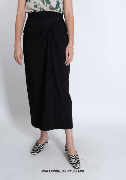Wrapping Skirt Black - whoami