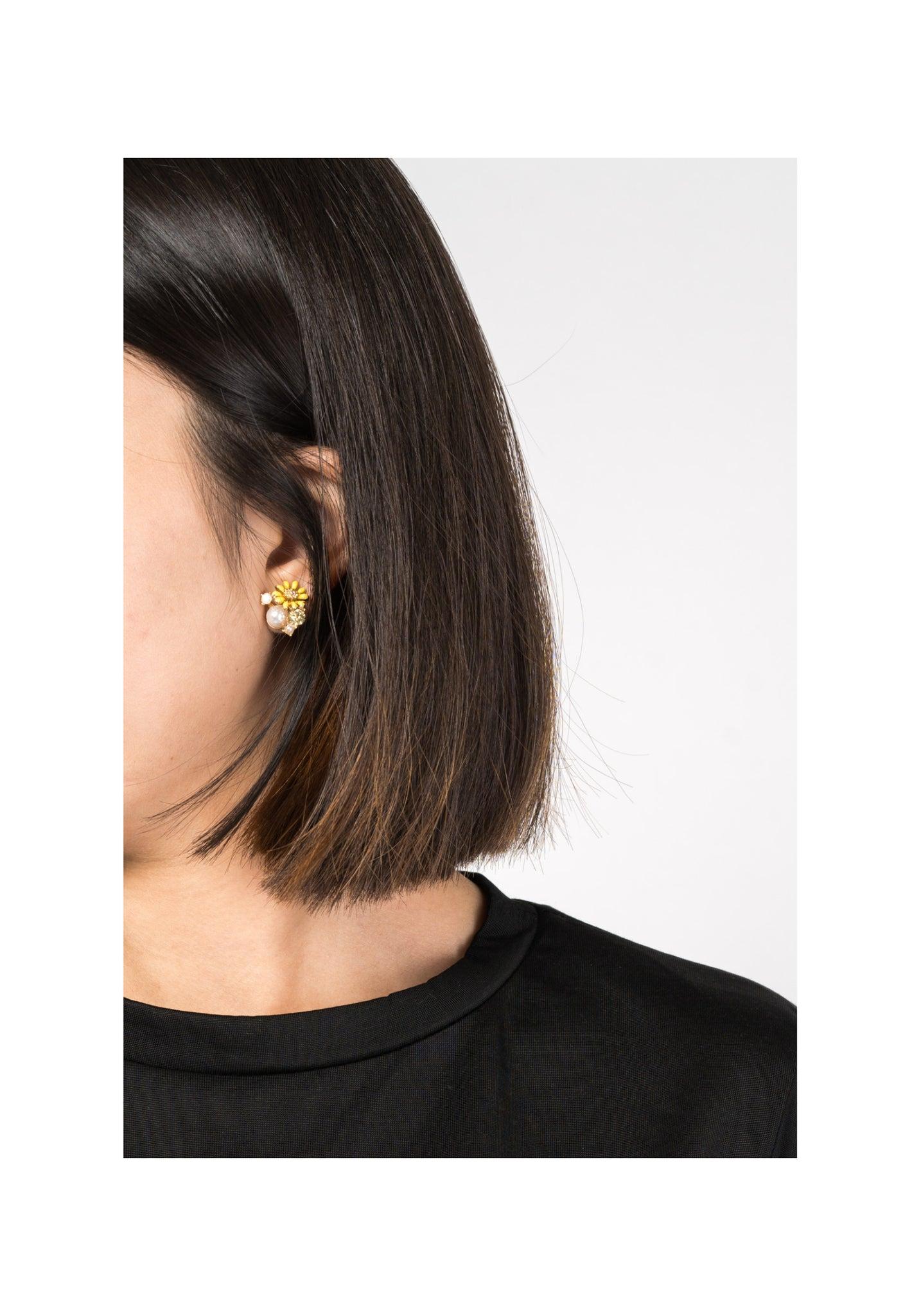 Yellow Flower Mixed Gem Earrings - whoami