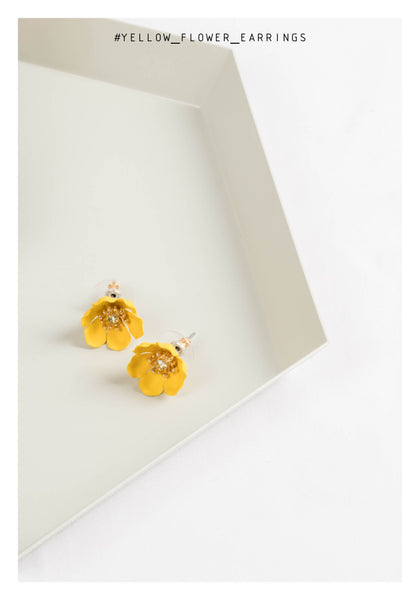 Yellow Flower Earrings - whoami