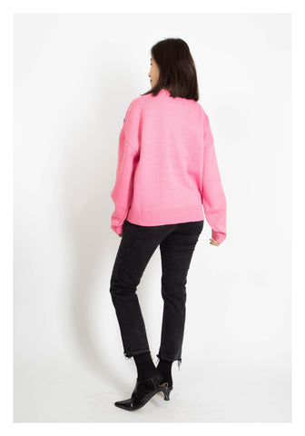 Zadig Knit Top Pink - whoami