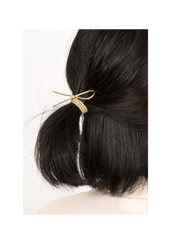 Simple Knot Clip Hairband Set Gold