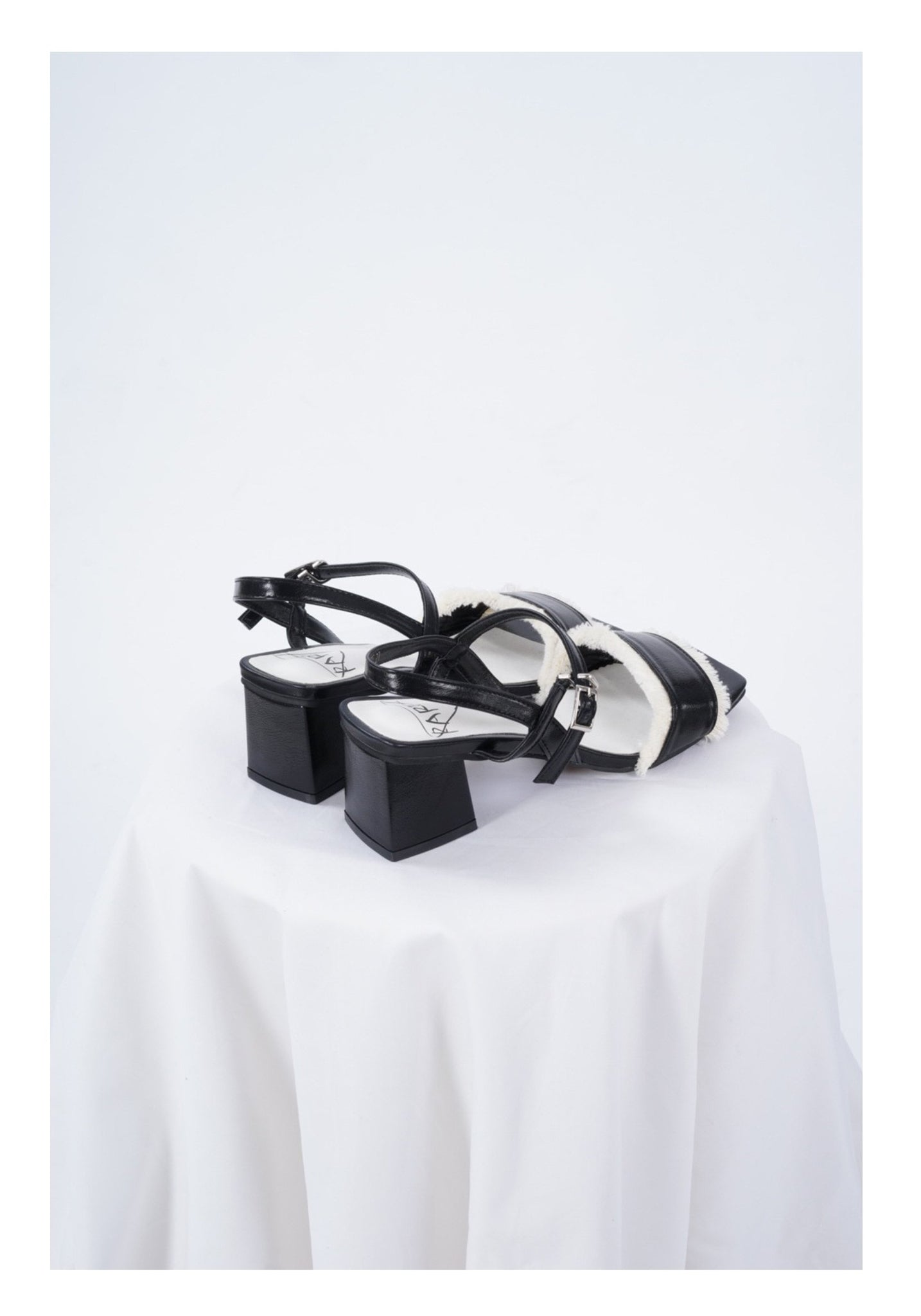 Sample Shoes - Black And White Fringe Sandals - whoami