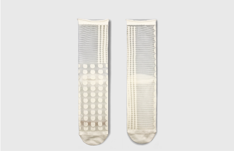 Midcalf Tulle Socks Blanc Dot - whoami
