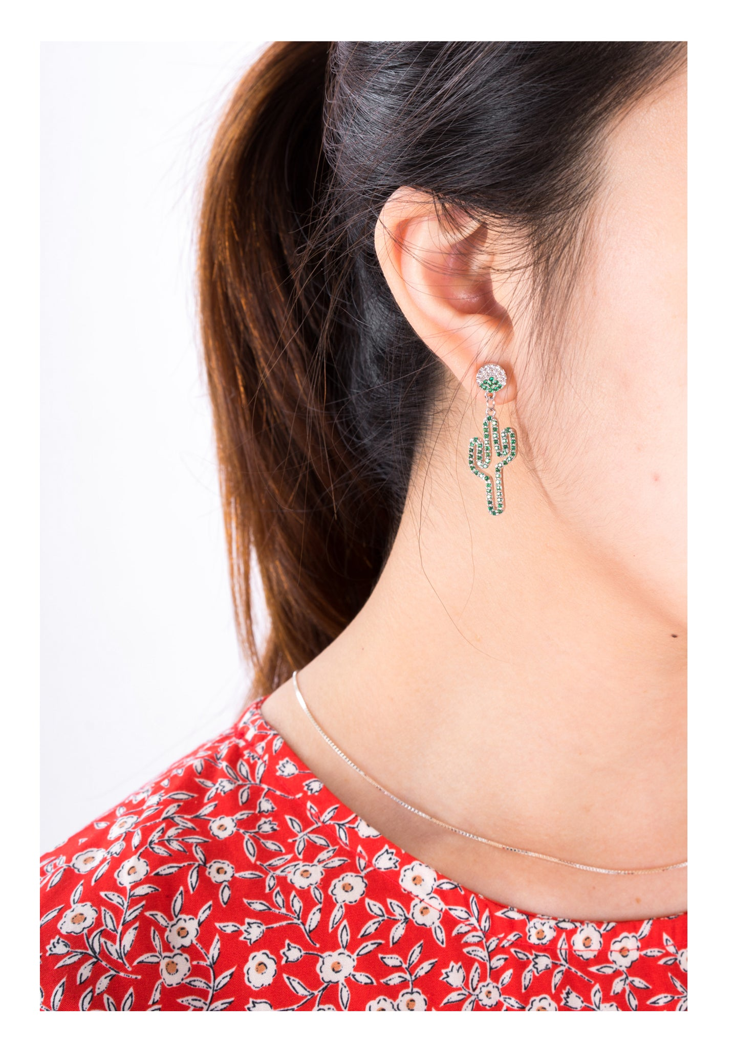 Flamingo and Cactus Earrings