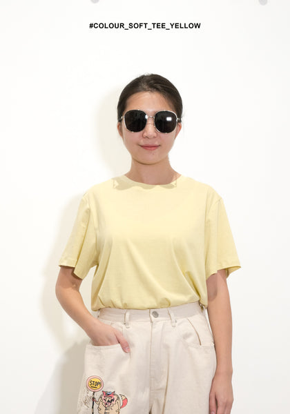 Colour Soft Tee Yellow - whoami