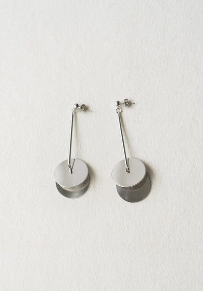 Cymbal Earrings Silver - whoami