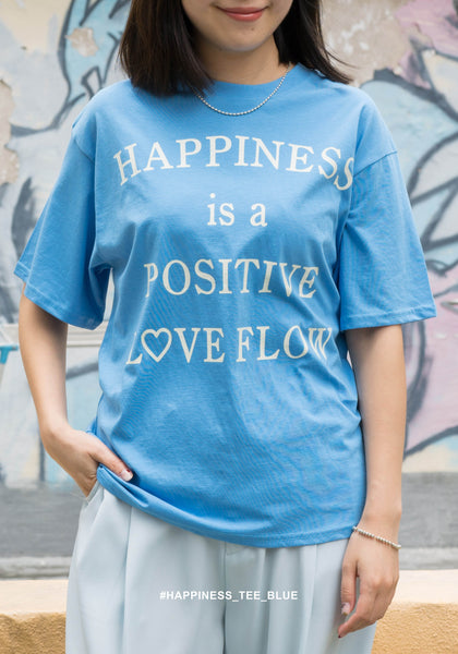 Happiness Tee Blue - whoami