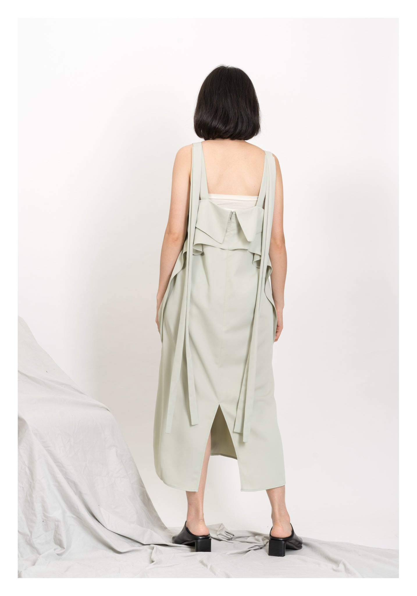 Modern Strap Vest Dress Mint - whoami