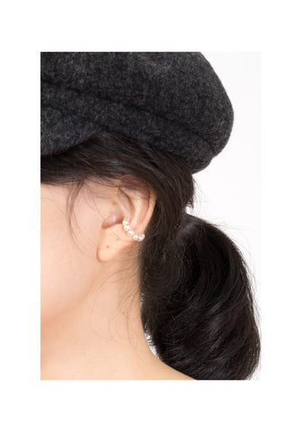 Faux Pearl Row Ear Cuff