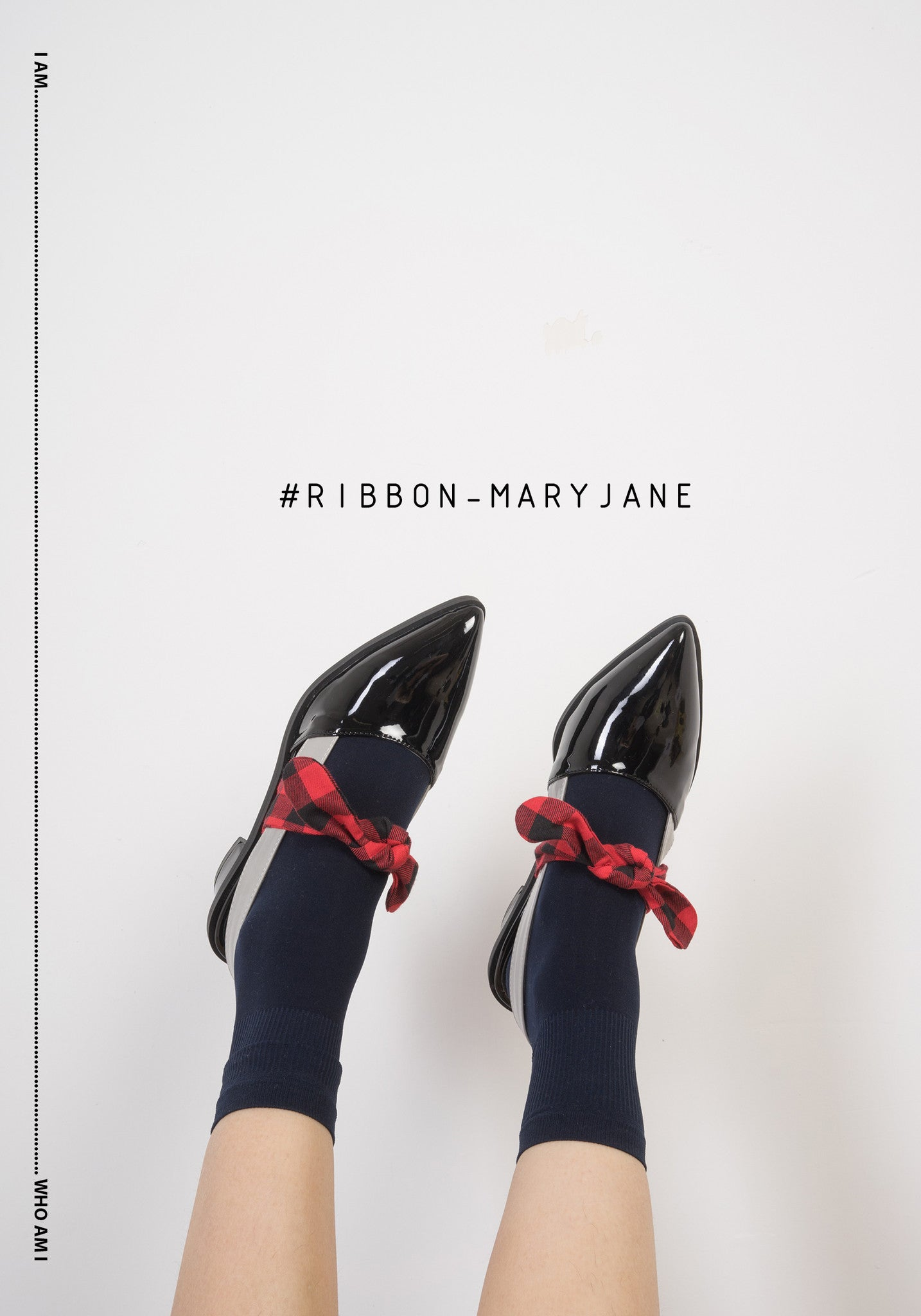 whoami hong kong ribbon maryjane black
