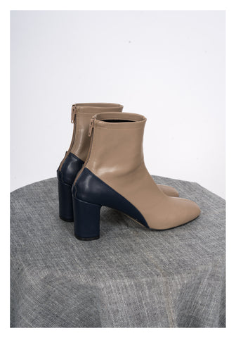 Sample Shoes - Caitlin Two Tone Heels Boots