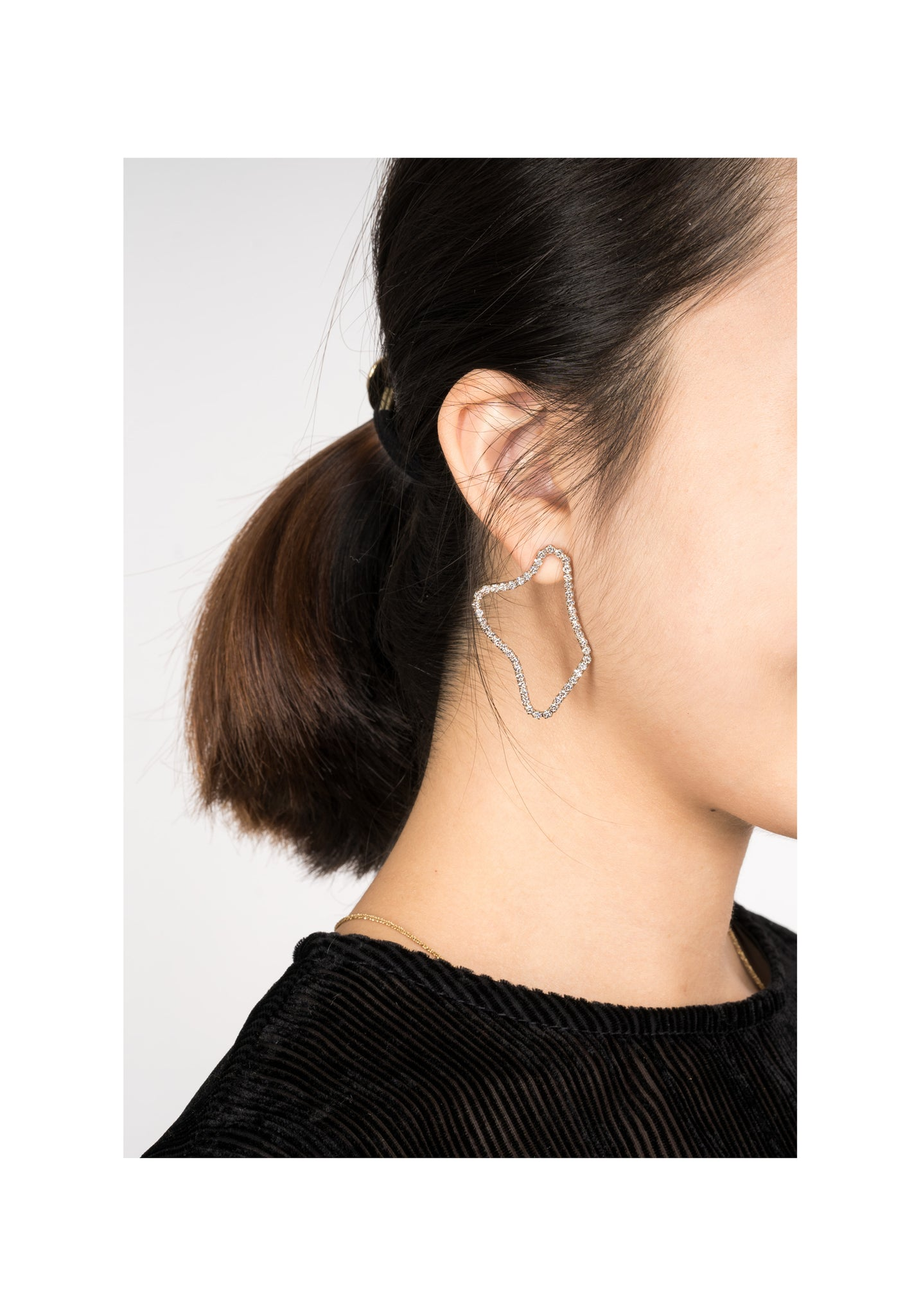 Organic Sparkle Loop Earrings - whoami