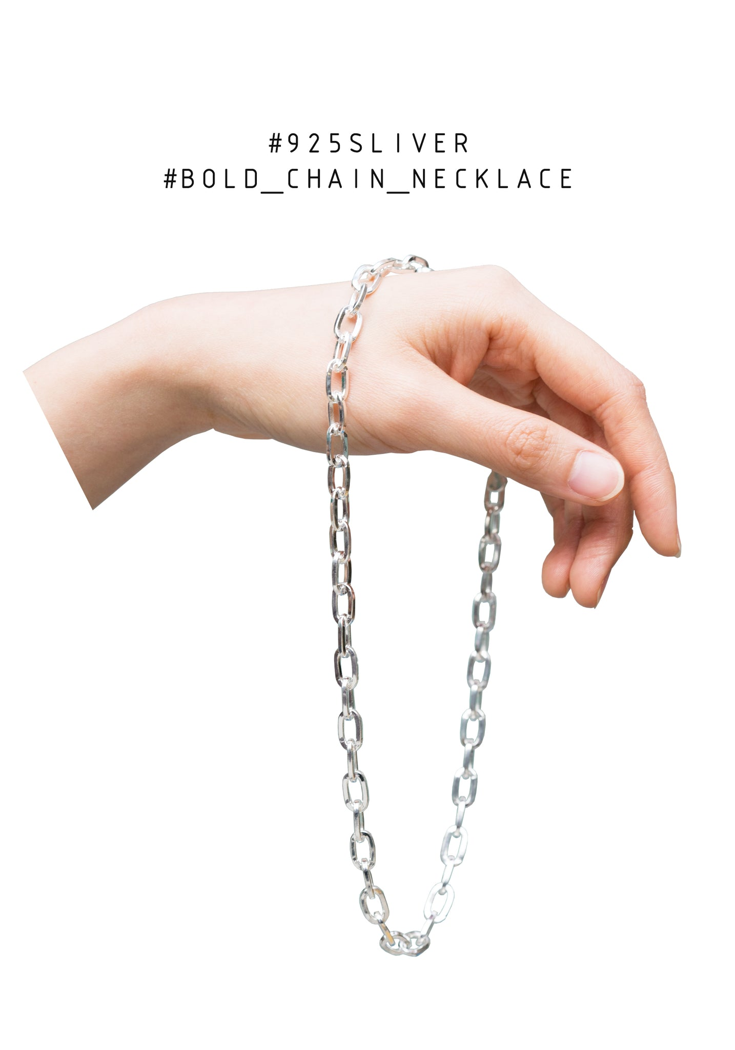 925 Silver Bold Chain Necklace