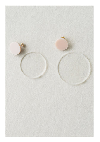 Transparent Disc Earrings - whoami