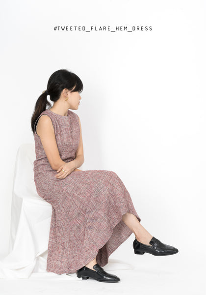 Tweed Flare Hem Dress