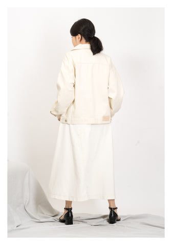 Classic Denim Jacket Ivory - whoami