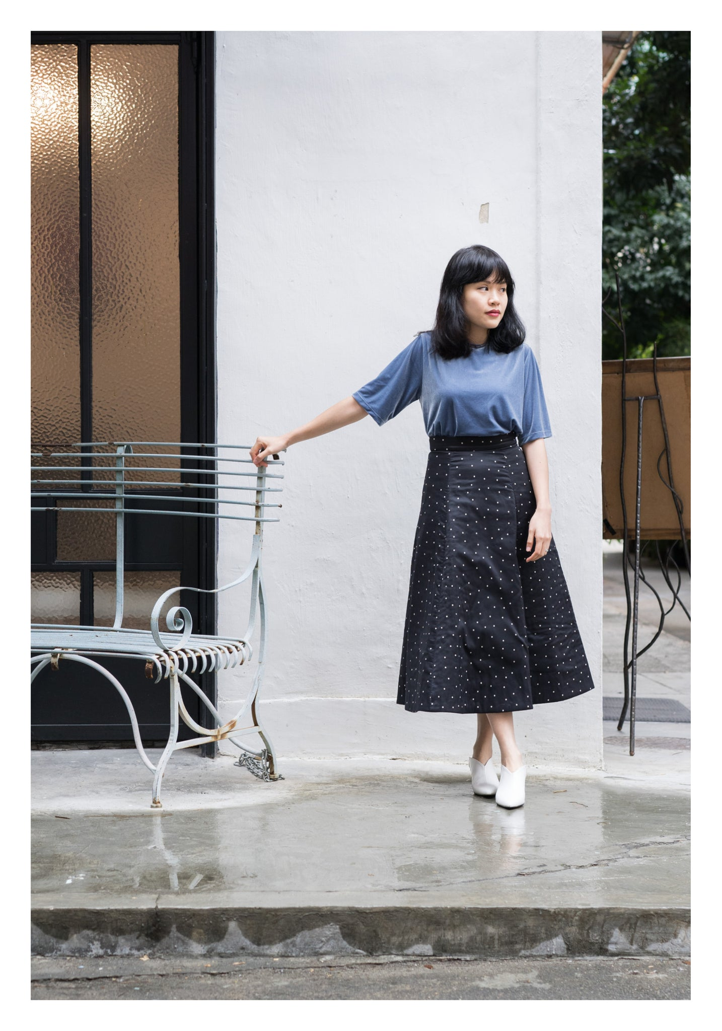Polka Dot Quilted Skirt