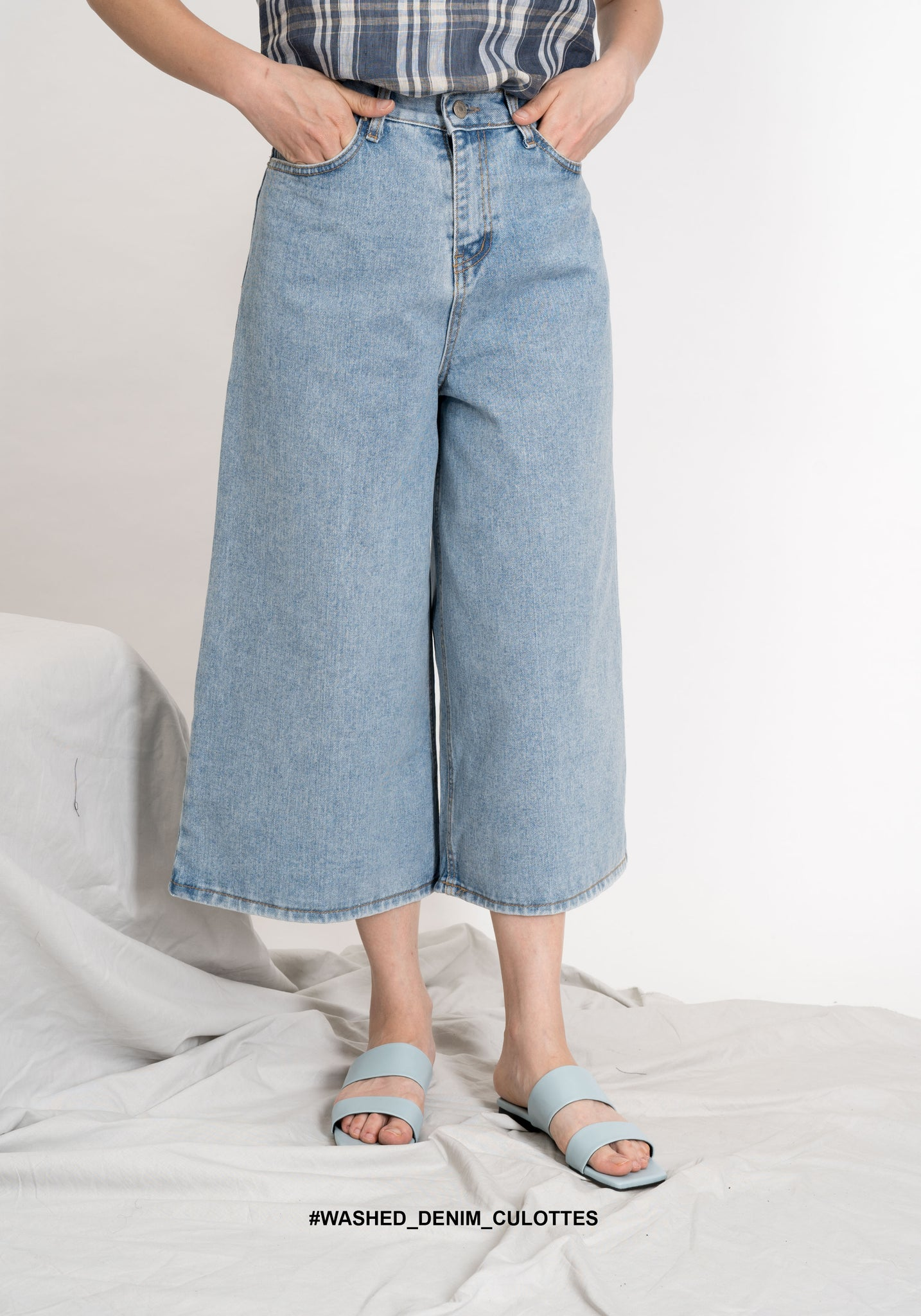 Washed Denim Culottes - whoami