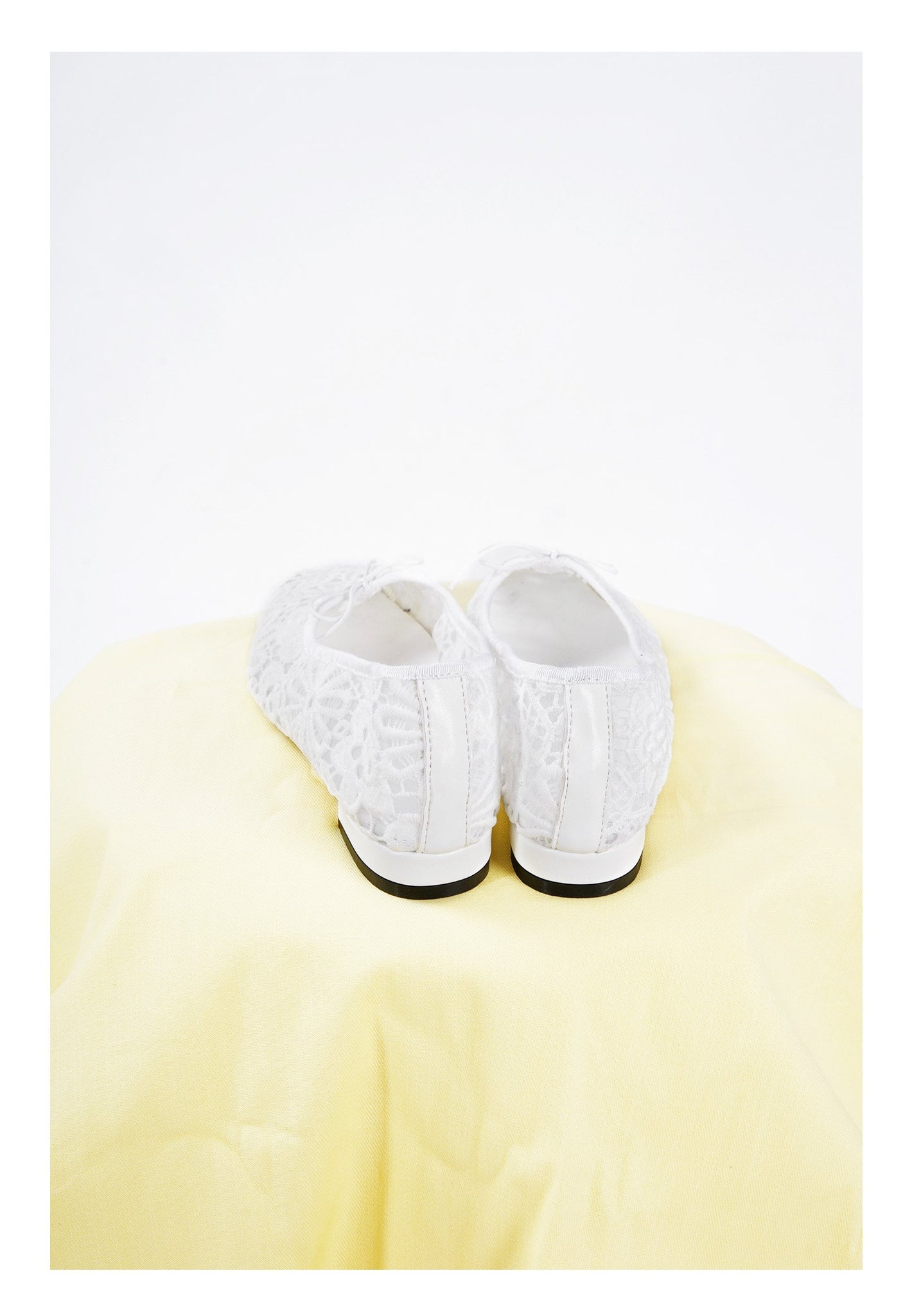 Sample Shoes - White Lace Flats - whoami