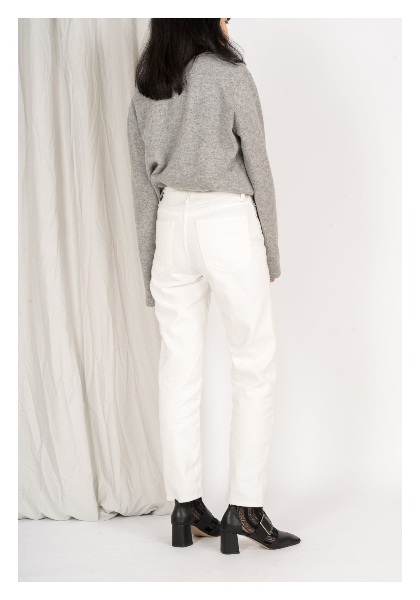 White Straight Cut Jeans - whoami