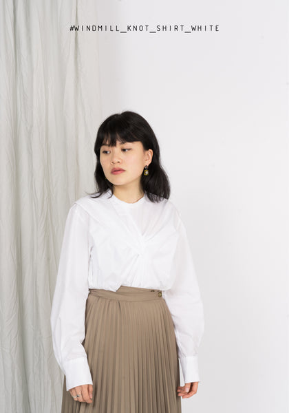 Windmill Knot Shirt White