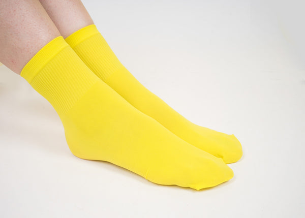 Yellow Basic Socks - whoami