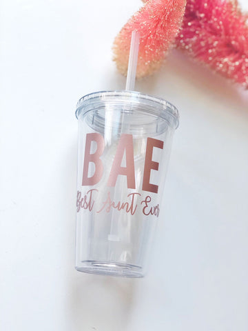BAE Best Aunt Ever Tumbler
