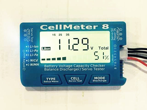 CellMeter 8 AOK 8S significant power steering servos narrowband test Test Battery discharger
