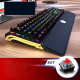 Widenman BK518 LED Backlit USB Wired Gaming 104-key Keyboard CF LOL (waterproof and dustproof)