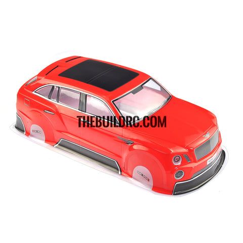 1/10 Red PVC Bentley Body Shell for RC On Road Drift Car