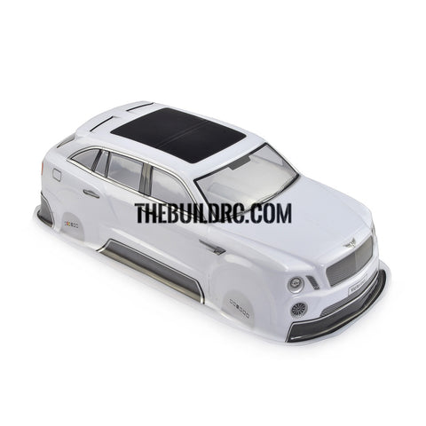 1/10 White PVC Bentley Body Shell for RC On Road Drift Car