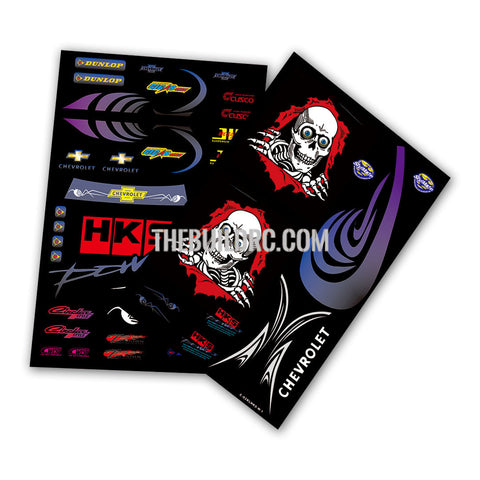 Skullington and logos Aqueous Transfer Ultra-thin film Decal (2pc)