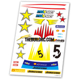 Rally Racing Aqueous Transfer Ultra-thin film Decals (1pc)