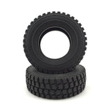1/14 Tractor Trailer Truck Rubber Tires with Sponge Insert 30mm 2pcs TAMIYA Compatible