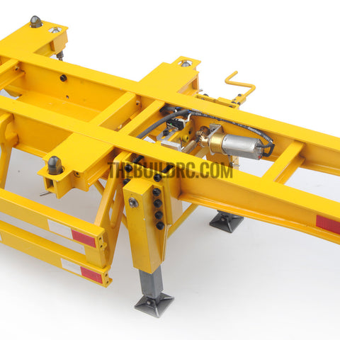 1/14 40ft 3 axle electric support leg skeletal container chassis and 20