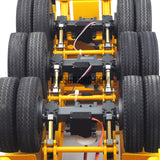 "1/14 40ft 3 axle electric support leg skeletal container chassis and 20"" container combo"
