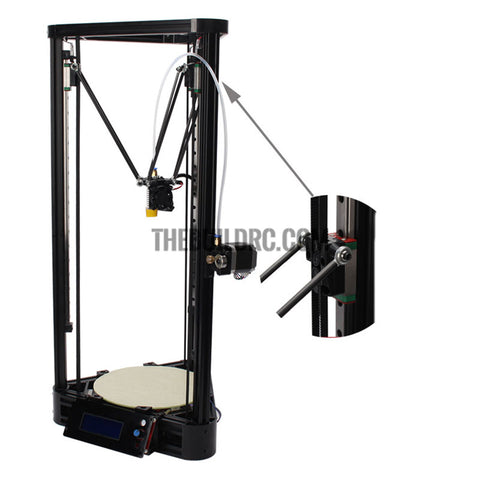 3D Printer Kit Large size Full Self-assembly Delta 3D Printer Kossel Pulley Guide Rail Version DIY Kit