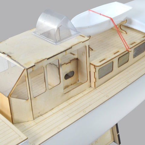 Rc Model Boat Mistral Motor Yacht Frp Hull And Plywood Boat Kit