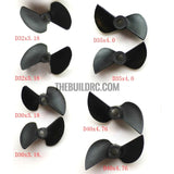 D32x P1.4 ,2-Blade Nylon Propeller (Anti paddle) for 3.18mm Shaft RC Boat