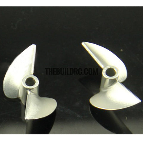 36xP1.4, CNC 2-blade Aluminum CW Propeller for 4.76mm shaft RC Boat