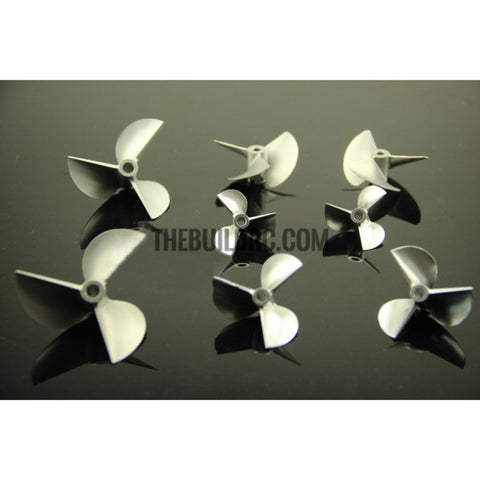 48xP1.8, CNC 3-blade Aluminum CW Propeller for 4.76mm shaft RC Boat