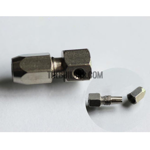 Steel Flex Collet Coupler for 4mm Motor Shaft and 3.18mm(1/8 Inch) Flex Cable