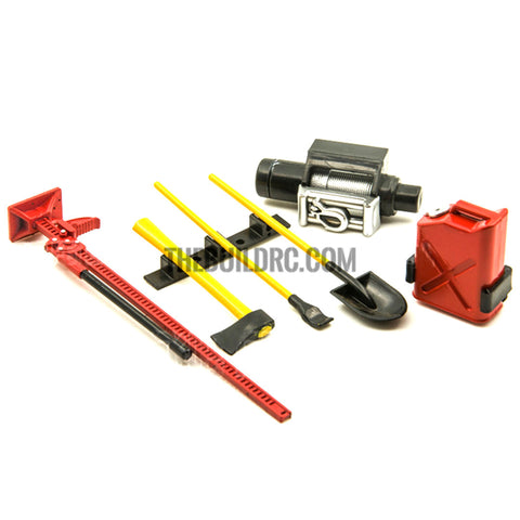 1/10 Accessory Tool Set For RC Pick-Up Trucks Tamiya HPI Axial Wraith-Red and Yellow
