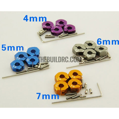 Aluminum 5mm Thickness Hex Adapter for 1:10 RC Car