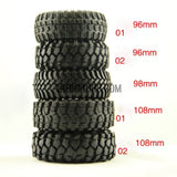 "RC 1:10 Rock Climbing Car Racing Tires Tyre 1.9"" 98mm1 PCS for RC4WD F350 SCX10"