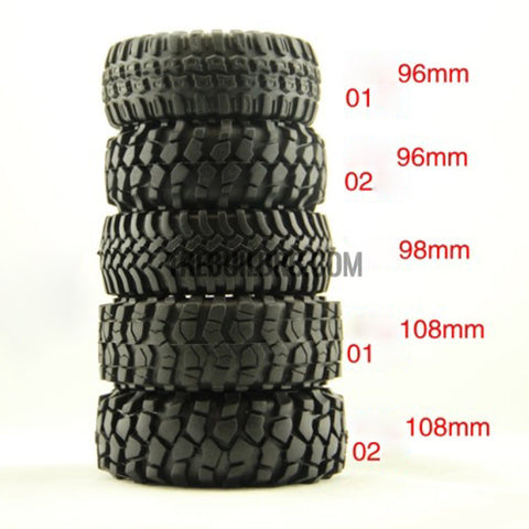 "RC 1:10 Rock Climbing Car Racing Tires Tyre 1.9"" 115mm 1 PCS for RC4WD F350 SCX10"