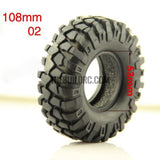 "RC 1:10 Rock Climbing Car Racing Tires Tyre 1.9"" 96mm1 PCS for RC4WD F350 SCX10"